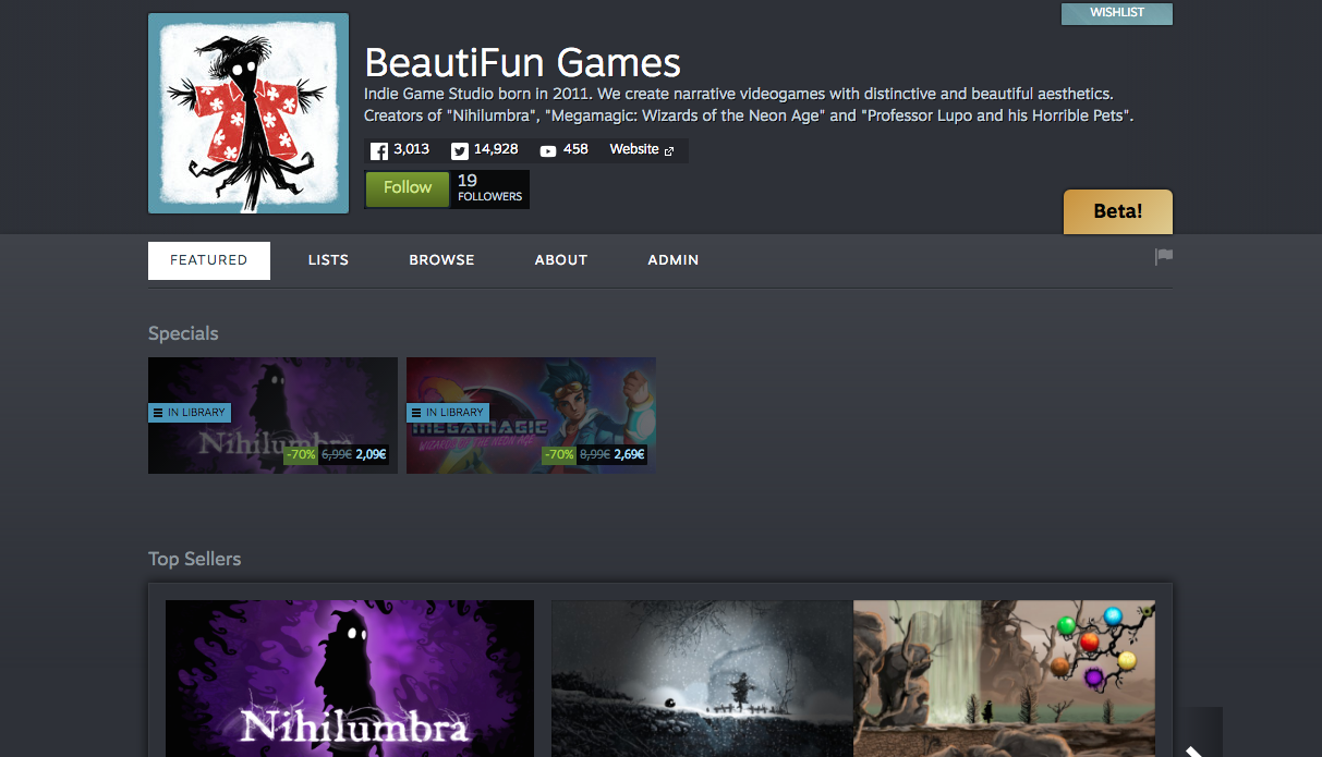 Follow our Steam Developer Page now (: | BeautiFun Games